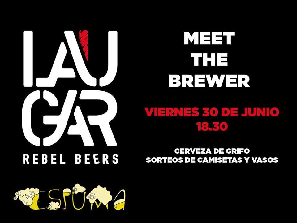 Evento Meet The Brewer Laugar en ESPUMA con pinchada de barril