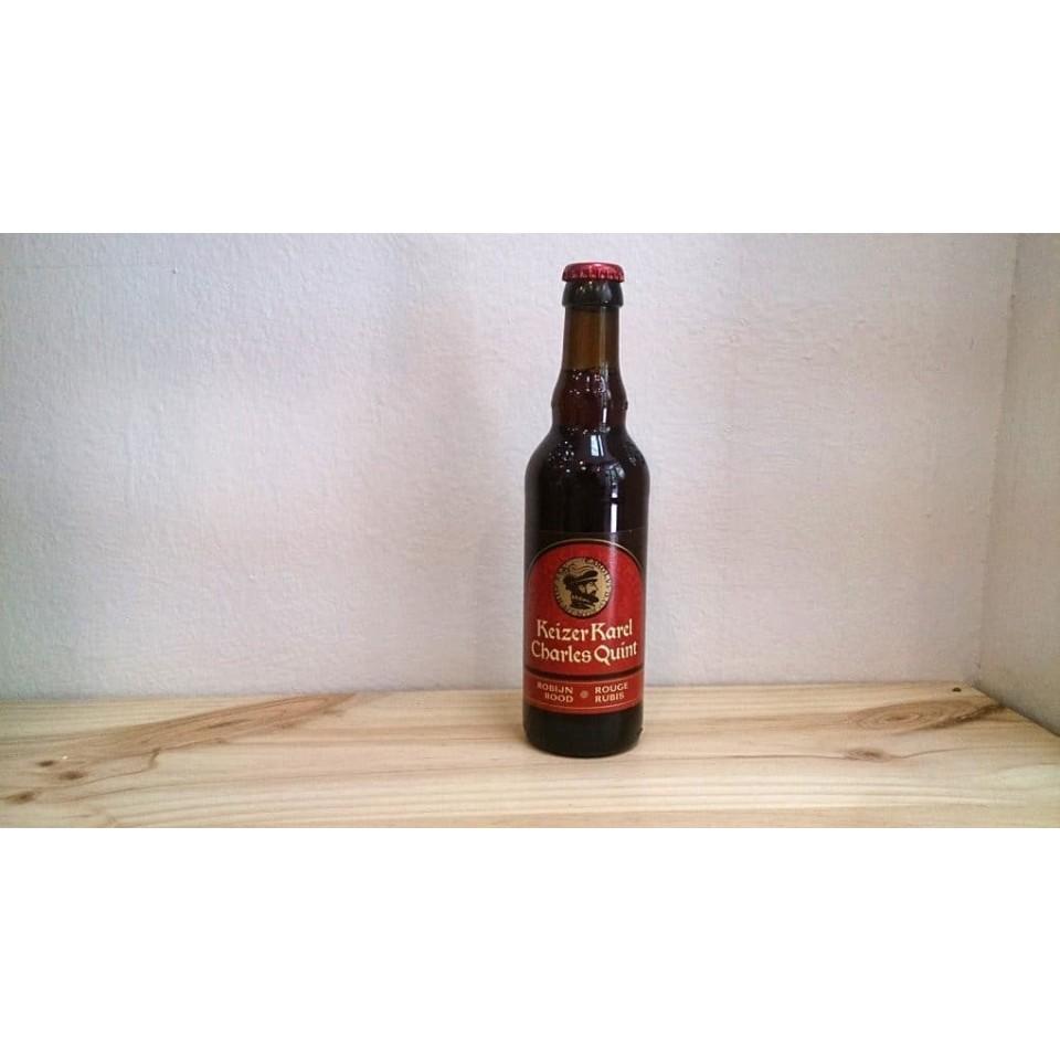 Botella de Cerveza Cerveza Keizer Karel Charles Quint Ambrée