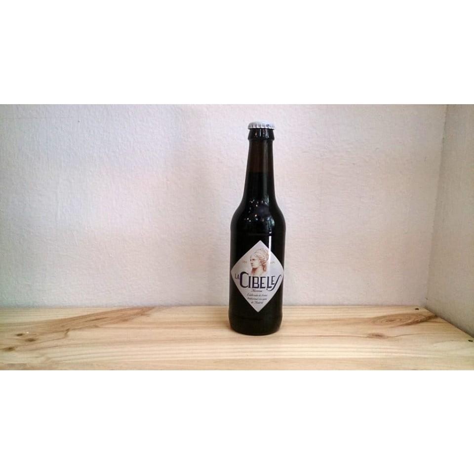 Botella de Cerveza La Cibeles Morena