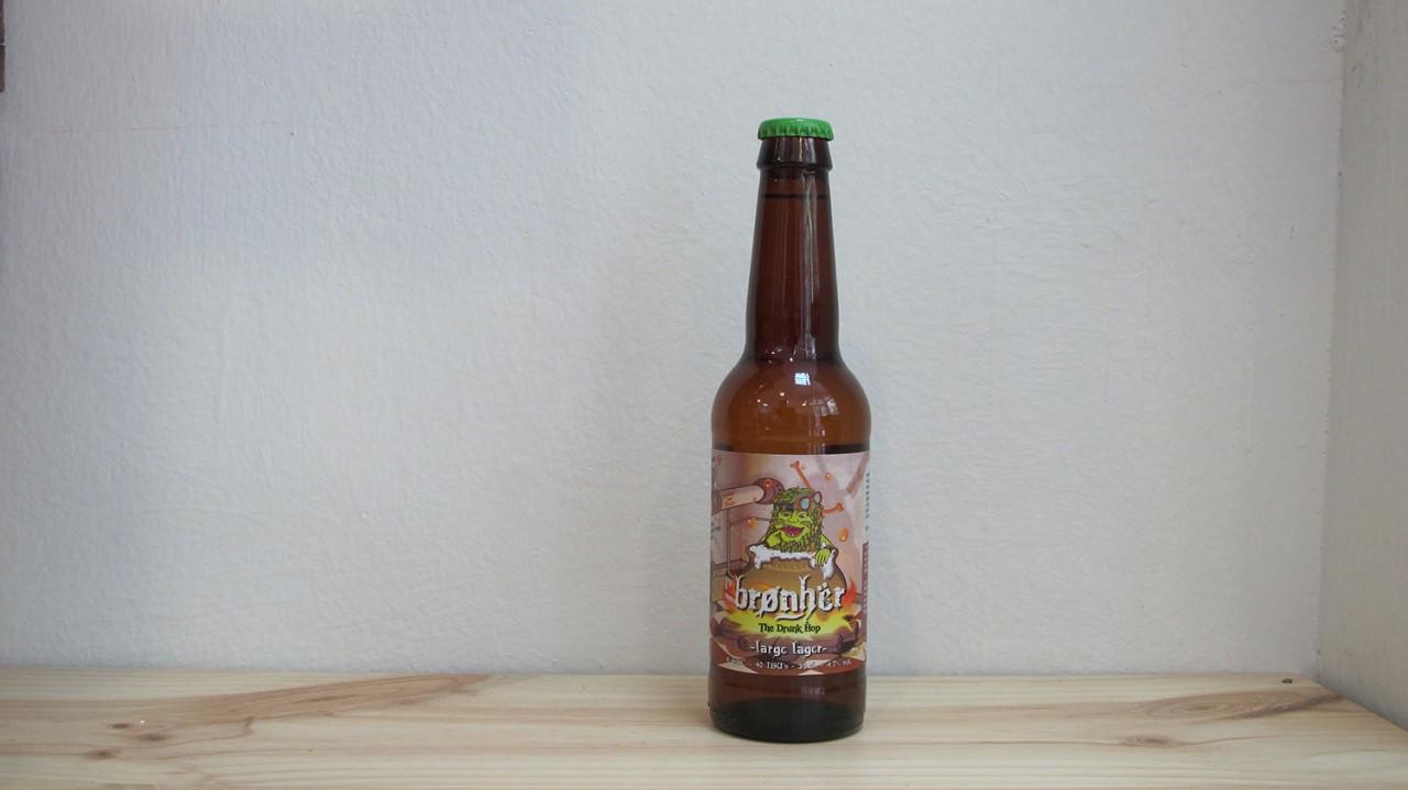 Botella de Cerveza Brønhër Large Lager The Drunk Hop