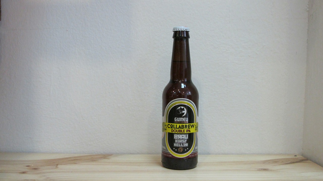 Botella de Cerveza Guineu Collabrew