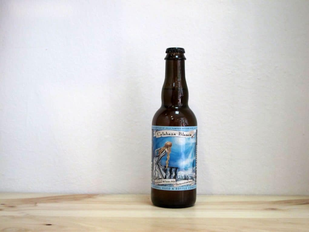 Botella de Cerveza Jolly Pumpkin Artisan Ales Calabaza Blanca