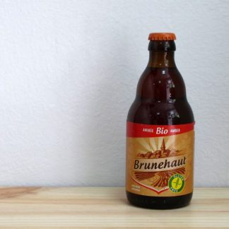 Botella de cerveza Brunehaut Bio Amber Gluten Free 33 cl
