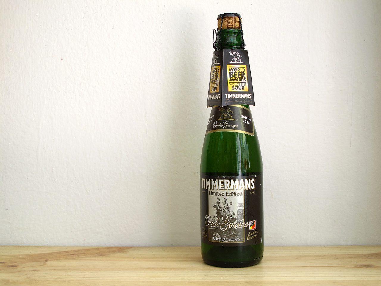 Botella de Cerveza lámbica belga Timmermans Oude Gueuze