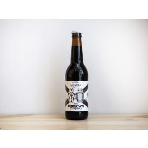 Botella de Cerveza Imperial Stout Rapaces Night Hunters Guineu La Quince Unknown Pleasures