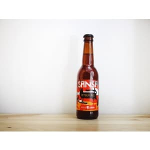 Botella de cerveza catalana La Pirata Sansa