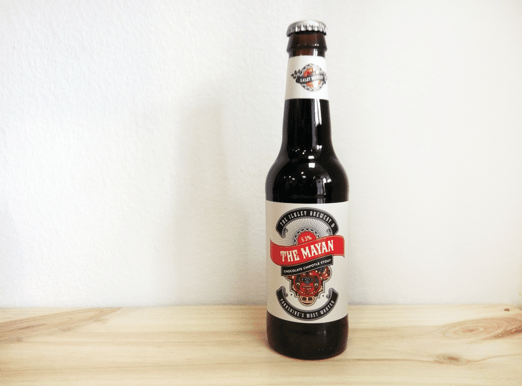 Botella de Cerveza inglesa Ilkley The Mayan Chocolate Chipotle Stout