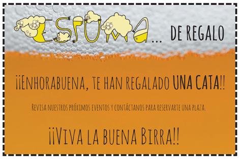 Vale de Regalo de cata de cerveza