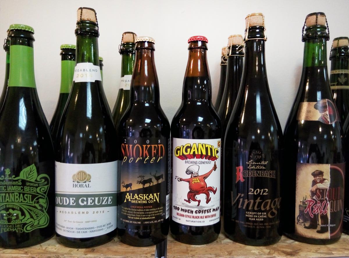 Botellas grandes de cerveza