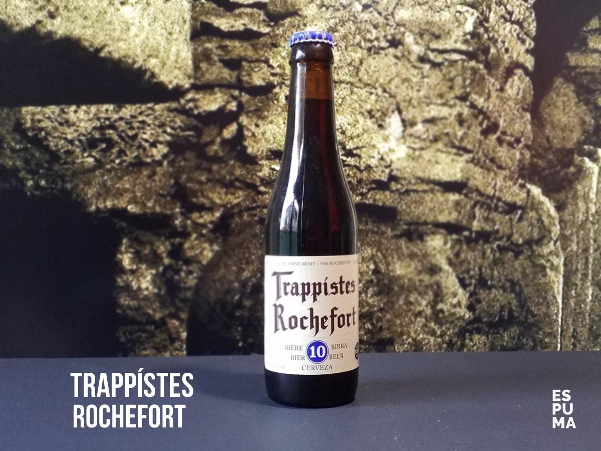Botella de cerveza trapense Rochefort 10