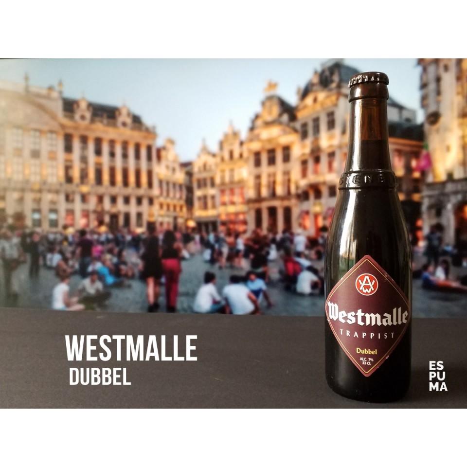 Botella de Cerveza trapense Westmalle Dubbel