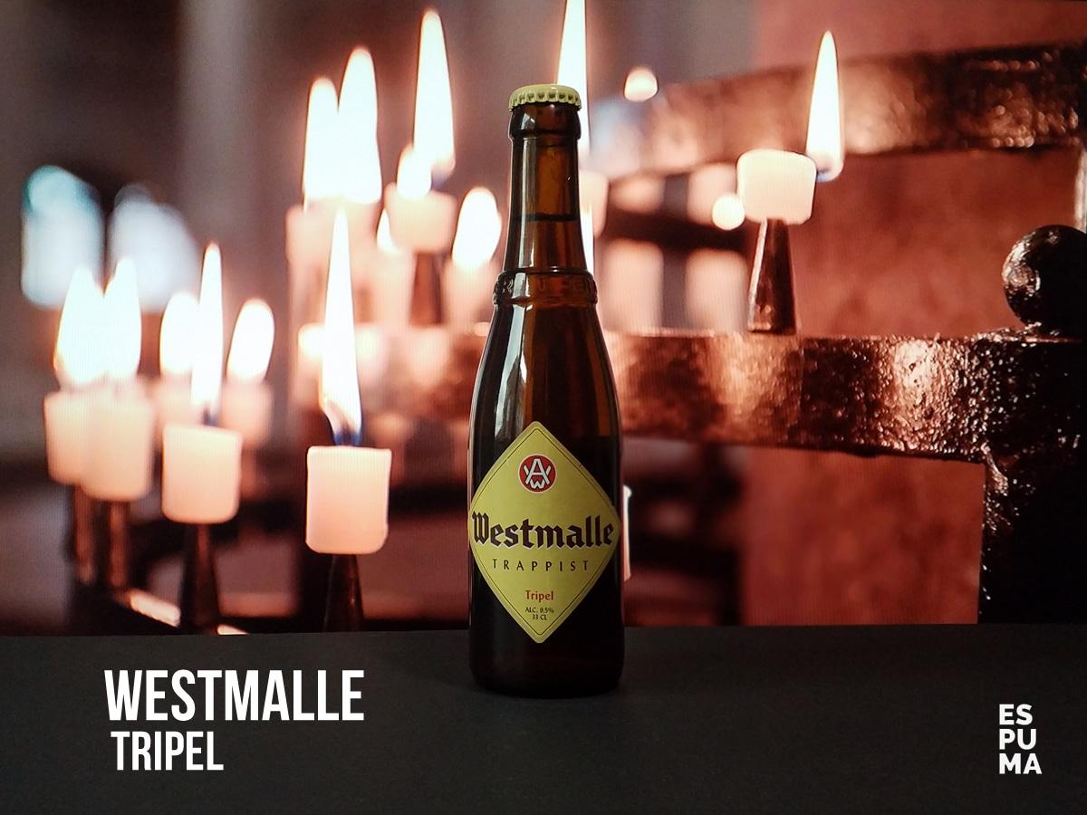 Botella de Cerveza trapense Westmalle Tripel