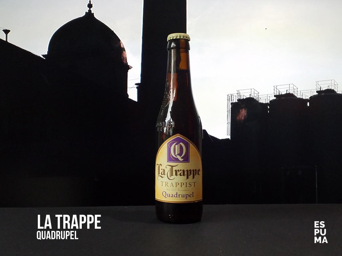 Botella de Cerveza trapense La Trappe Quadruppel