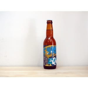 Botella de Cerveza madrileña La Quince 15 Hours Galaxy Session IPA