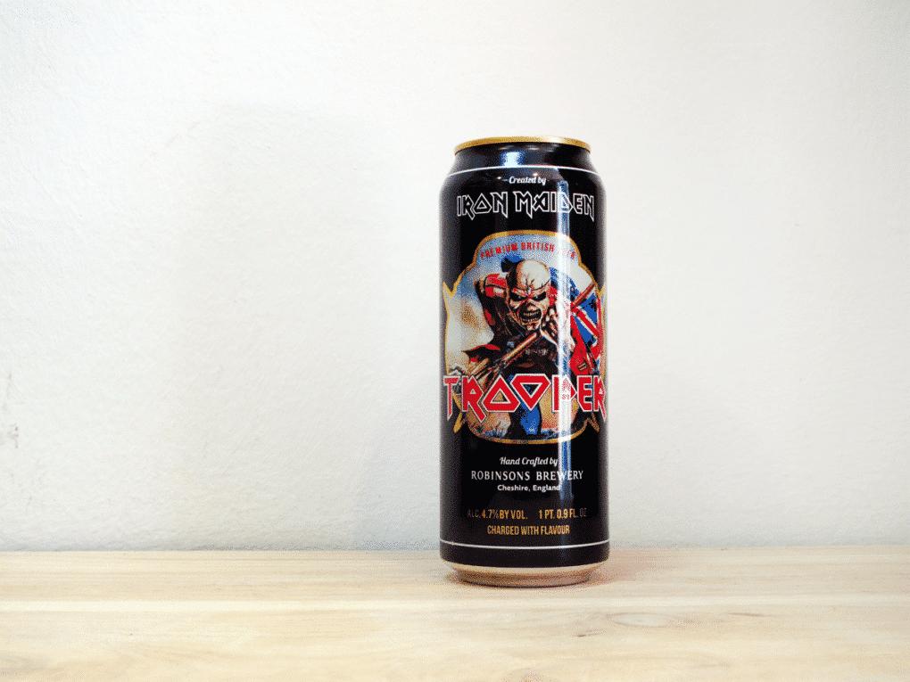 Lata de Cerveza inglesa Trooper