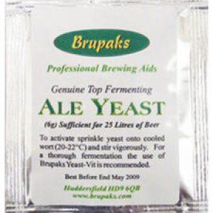 Sobre de levadura Brupaks para cervezas ale 6 gramos