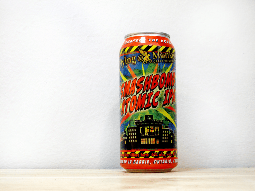 Cerveza canadiense Smashbomb Atomic ipa lata 50 cl