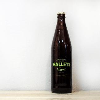 Botella de Sidra de pera galesa Hallets Perry