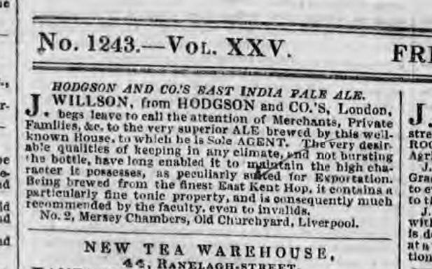 Anuncio de Bow Brewery India Pale Ale
