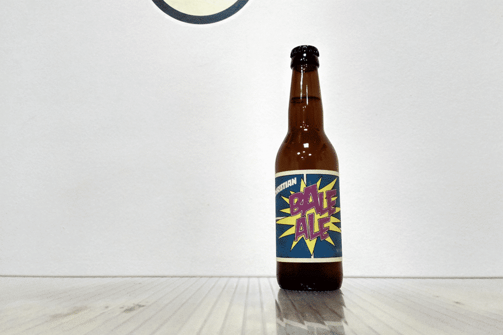 Botella de Cerveza danesaDry and Bitter Christian Bale Ale