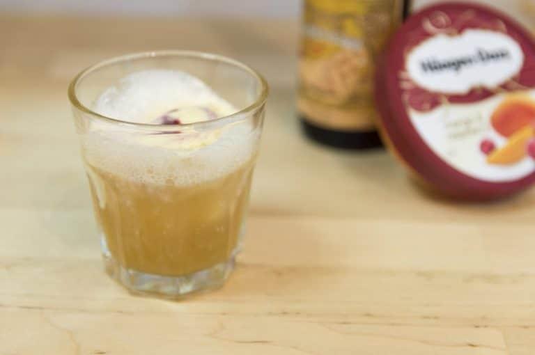 Cóctel de cerveza Fruit Lambic Beer Float