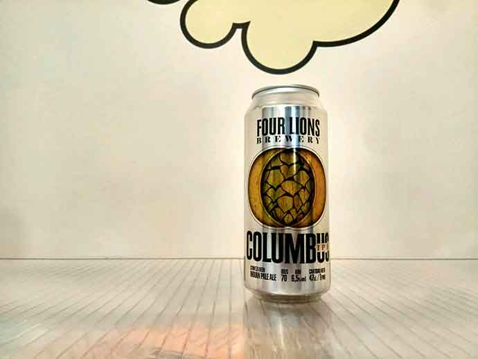 Lata 47 cl de Cerveza Four Lions Columbus IPA