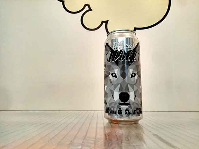 Lata 47 cl de Cerveza Four Lions Wheat Wolf