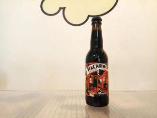Botella de Cerveza La Pirata Black Block Bourbon Aged