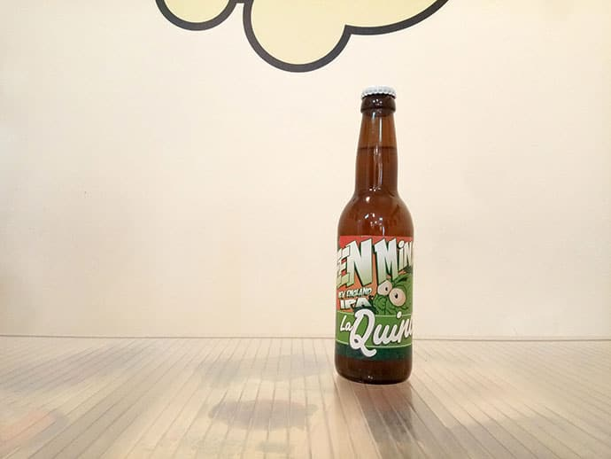 Botella de Cerveza La Quince Green Mind New England IPA