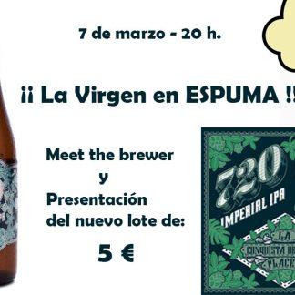 Presentación y cata de 720 Imperial IPA de La Virgen en ESPUMA