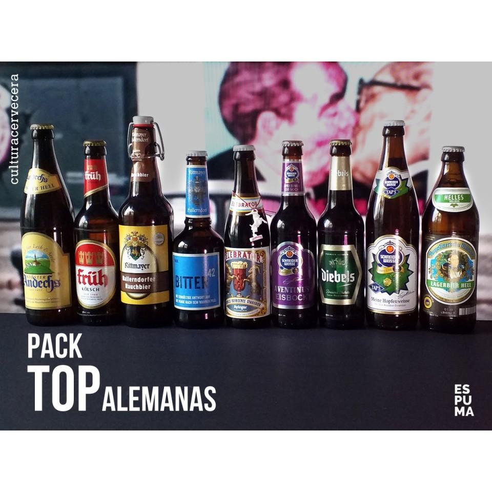 Pack Top alemanas - 9 cervezas de Alemania