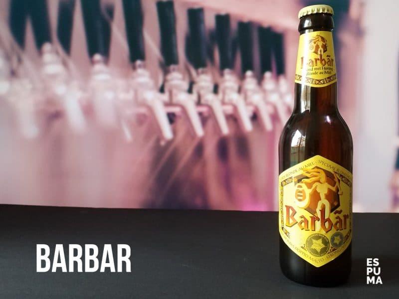 Botella de Cerveza Barbar con miel