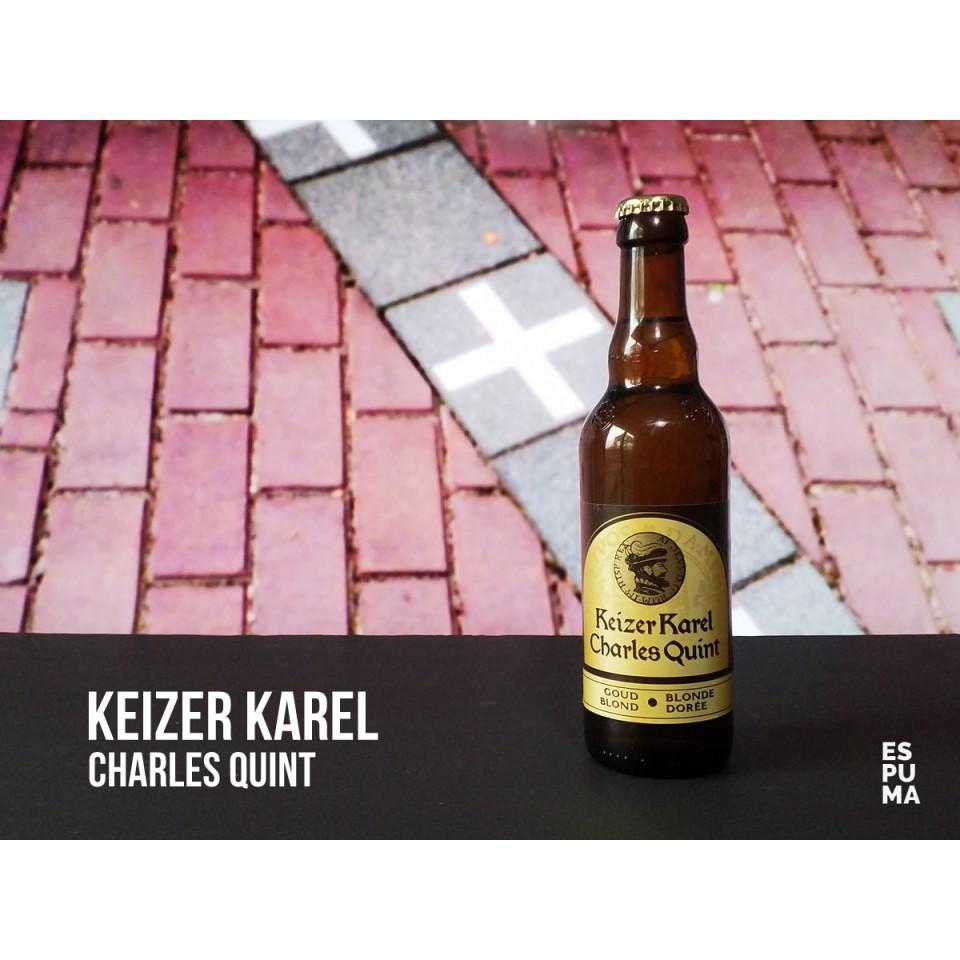 Botella de Cerveza Keizer Karel Blonde Charles Quint
