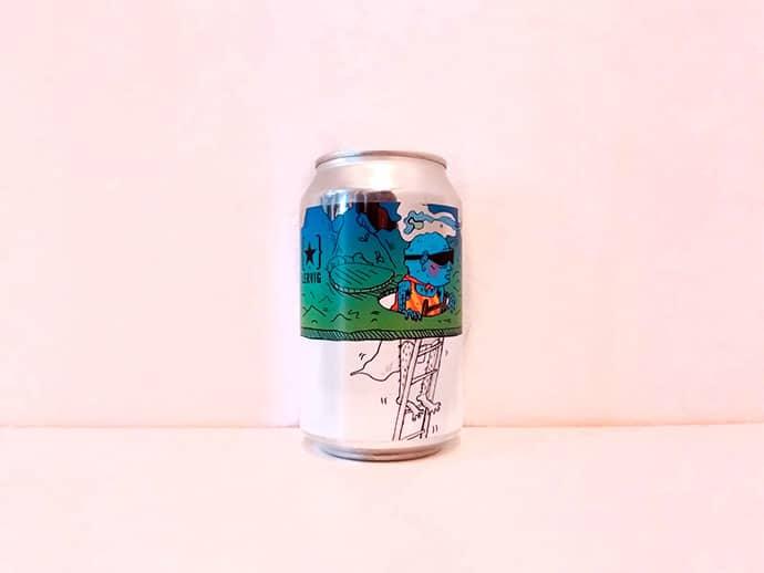 Lata de cerveza Lervig No Worries