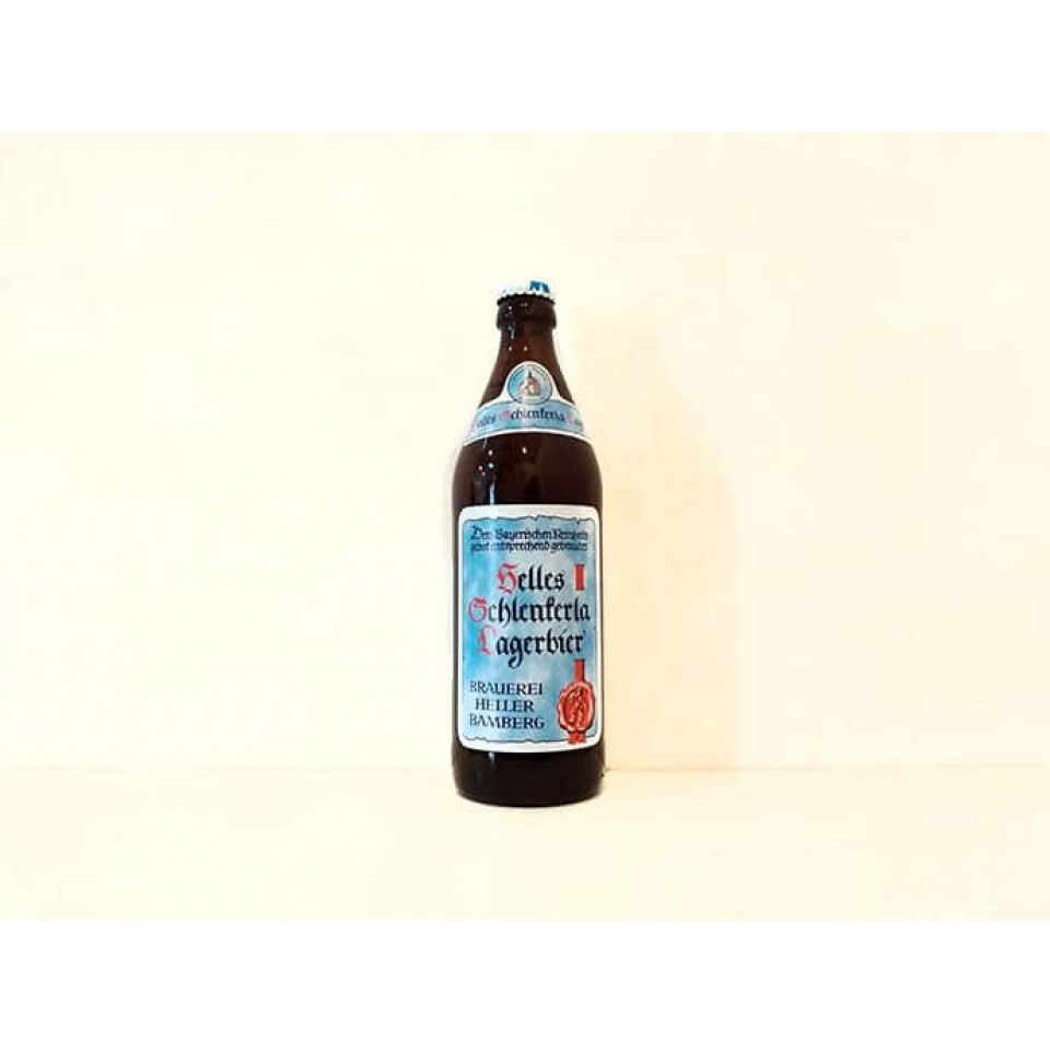 Botella de cerveza Helles Schlenkerla Lagerbier