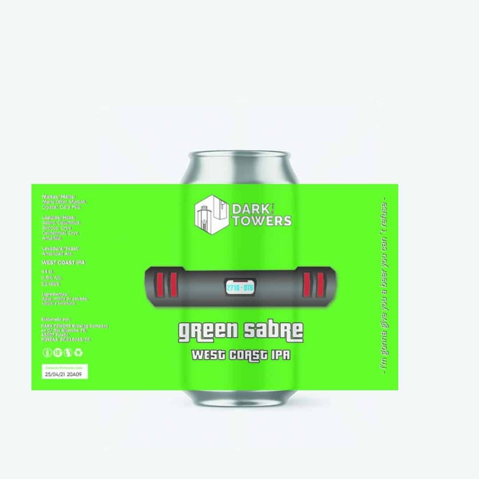 Cerveza Dark Towers Green Sabre