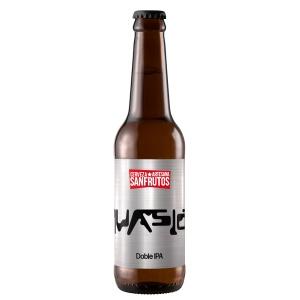 Botella de cerveza Sanfrutos Invasión Double IPA
