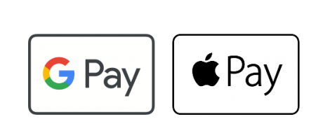 Pago aceptado con Google Pay y Apple Pay