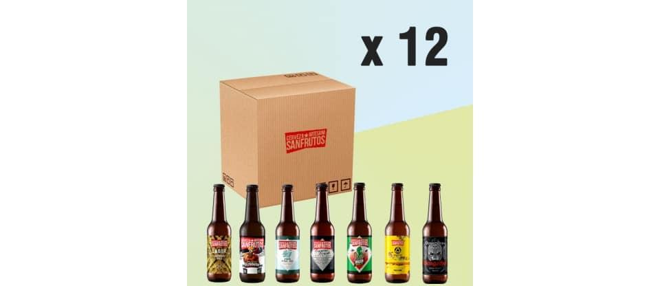 Pack de cervezas SanFrutos al gusto 12 unidades
