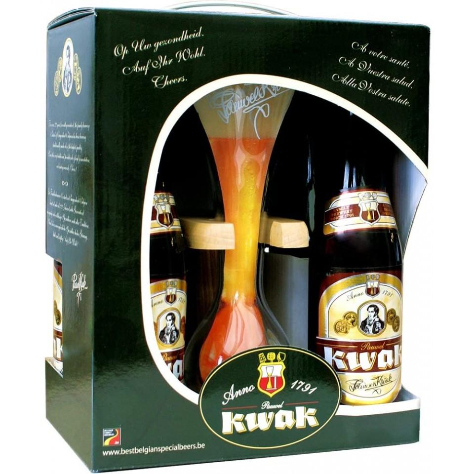 Pack de 4 cervezas Kwak con copa