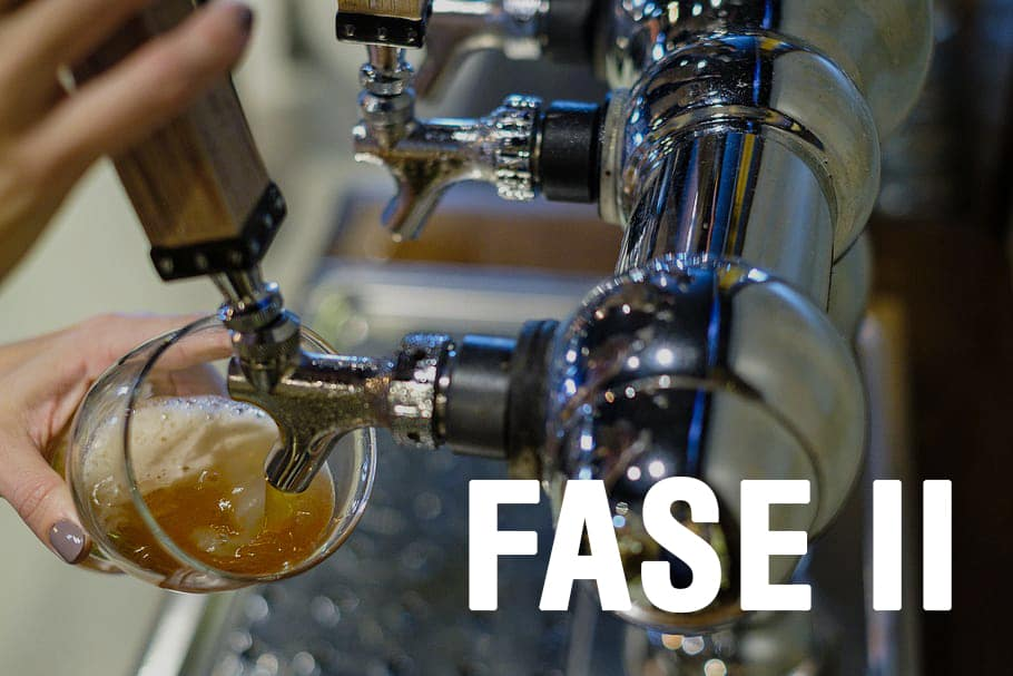 Grifos de cerveza artesana local en la fase II