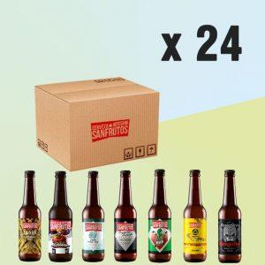 Pack de cervezas SanFrutos al gusto 24 unidades