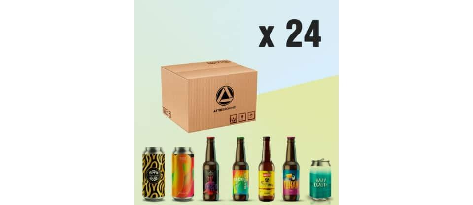 Pack al gusto de cervezas artesanales Attik Brewing 24 uds