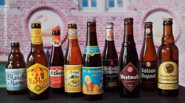 botellas de cervezas belgas