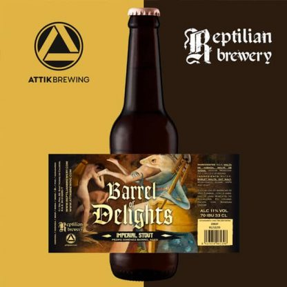 Cerveza Attik - Reptilian Barrel of Delights