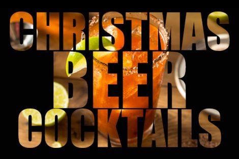 Cócteles de cerveza de Navidad