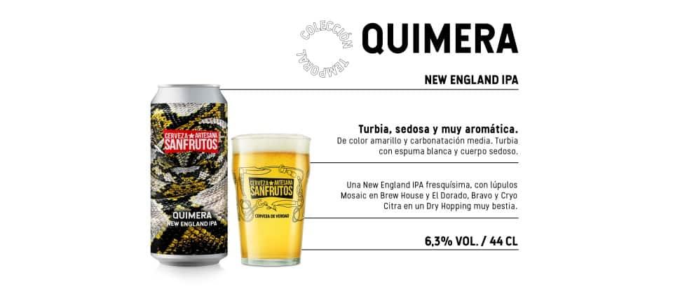 Ficha descriptiva cervesa Sanfrutos Quimera