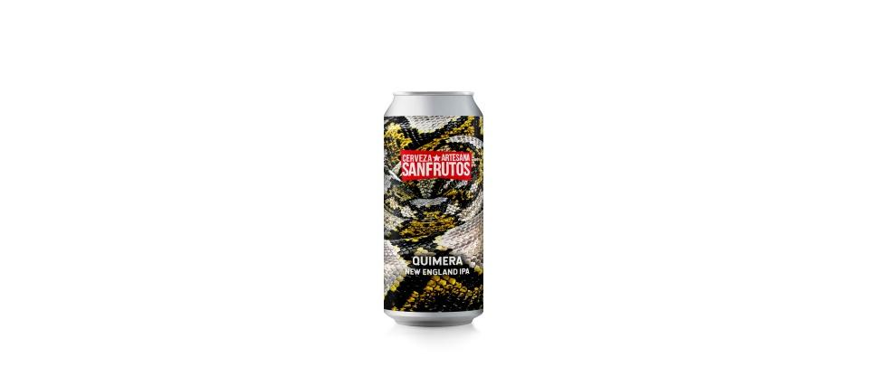 Lata de Cerveza Sanfrutos Quimera New England IPA 6,3%